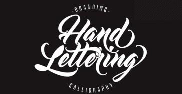 Beauty hand lettering font