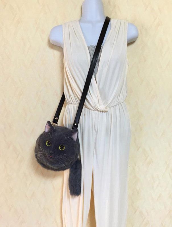Creative Handmade realistic cat bags pico 04
