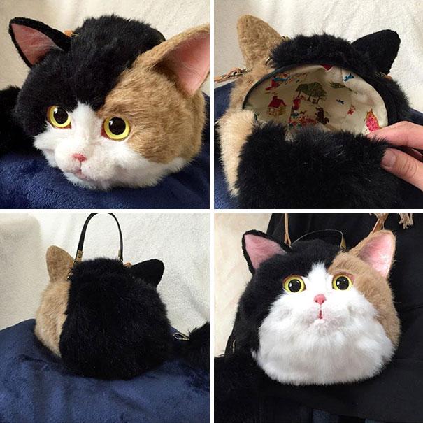 Creative Handmade realistic cat bags pico 07