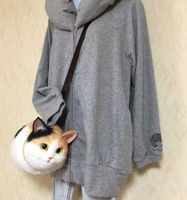 Creative Handmade realistic cat bags pico 63
