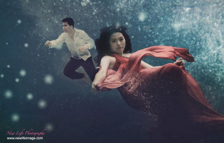 Pre wedding Poses Ideas in Underwater