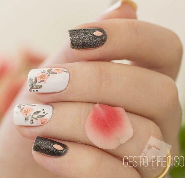 Beautiful flower nail art Ideas