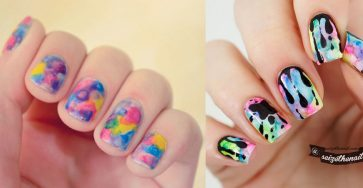 Pretty Flower Watercolor Nail Art Ideas