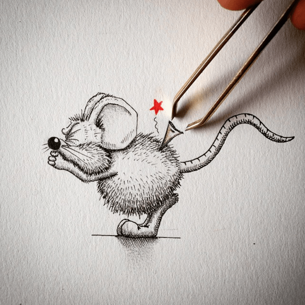 Creative Drawing Art Make from Everyday Object 06