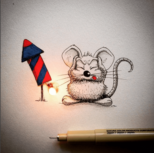 Creative Drawing Art Make from Everyday Object 12