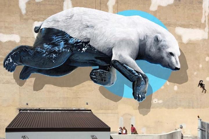 Creative Street Art and Graffiti Designs Black-machine