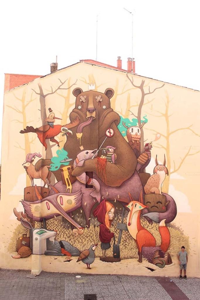 Creative Street Art and Graffiti Designs Tribute-to-the-iberian-wildlife