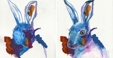 This Artist Her 2-Year-Old's Sketches Into Gorgeous Watercolor Paintings