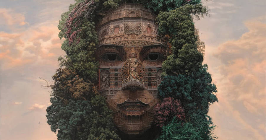 Portraits of Chinese Rockstars Turned into Monumental Temples 01