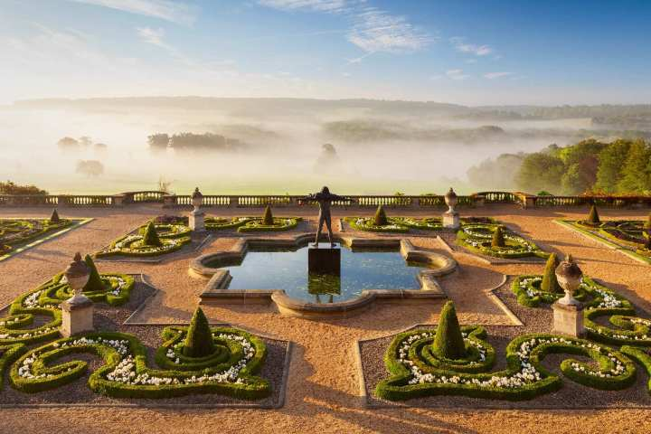 Sea of Mist by Lee Beel reveals the terrace garden at Harewood House in Yorkshire in early autumn