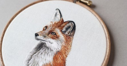 Gorgeous Embroidered of Animals by Emillie Ferris 04