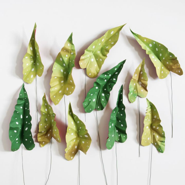 Creative Art, Create Green Room With Plants From Paper