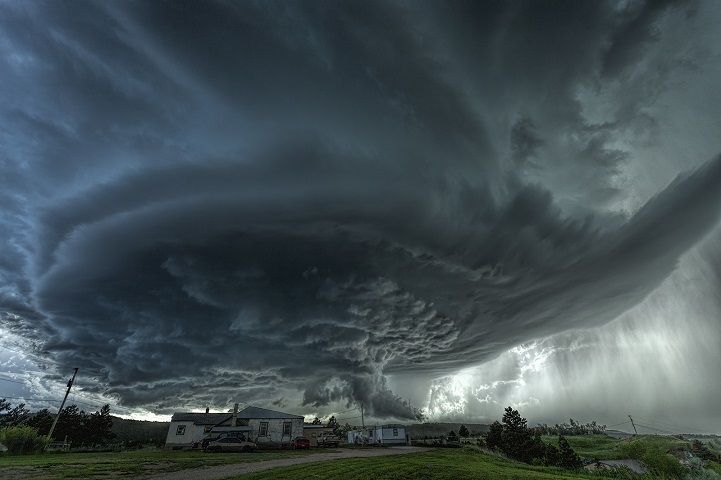 Amazing supercell produces over the town of Blackhawk, South Dakota back on June 1st 2015. Flash flooding would occur near Rapid City. High Resolution Gallery at www.jamessmart.com.au