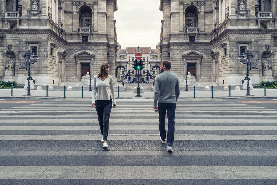 Beauty Symmetrical Pictures of a Couple by Zsolt Hlinka