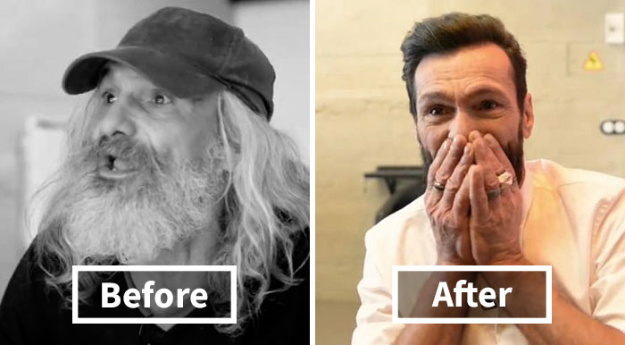 "Homeless Man's Unbelievable Transformation Into ""Hipster"" Makes Him Burst Into Tears"