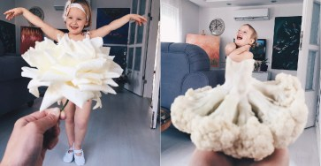 Food Dresses Forced Perspective Optical Illusion