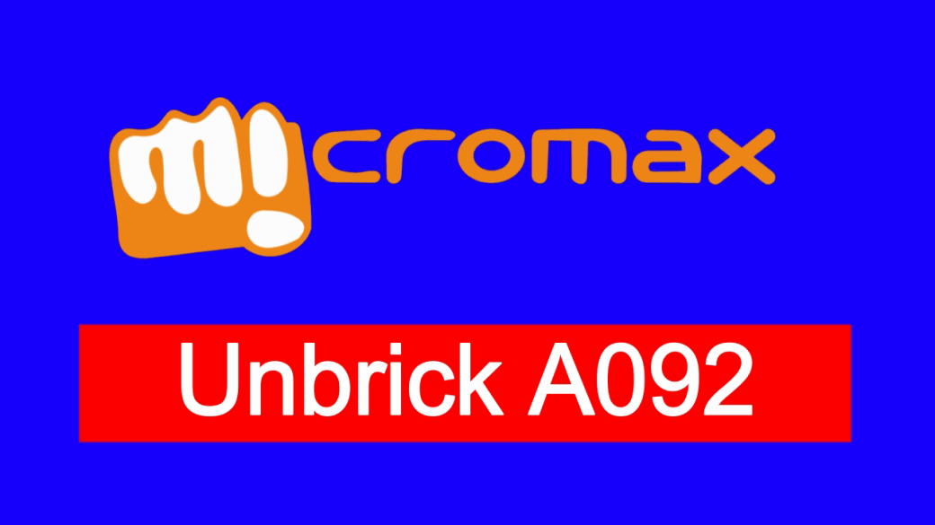 flash stock rom on micromax a092