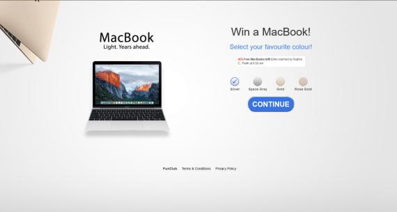 Win A NEW Macbook NOW!