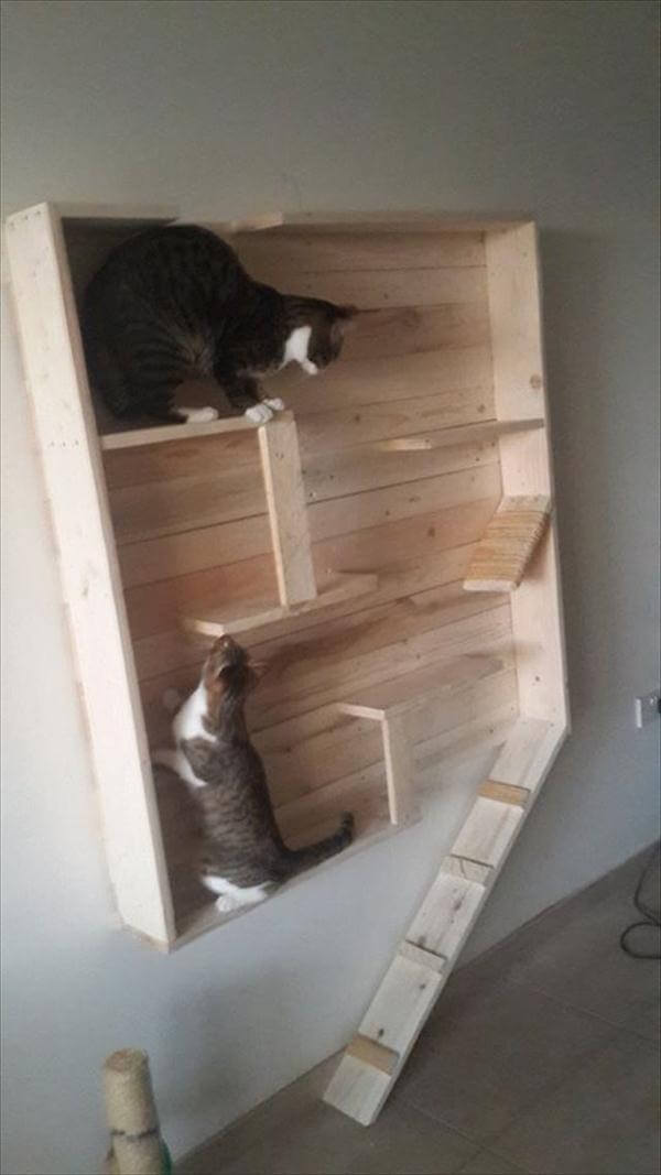 Reclaimed Pallet Cat Playhouse 99 Pallets