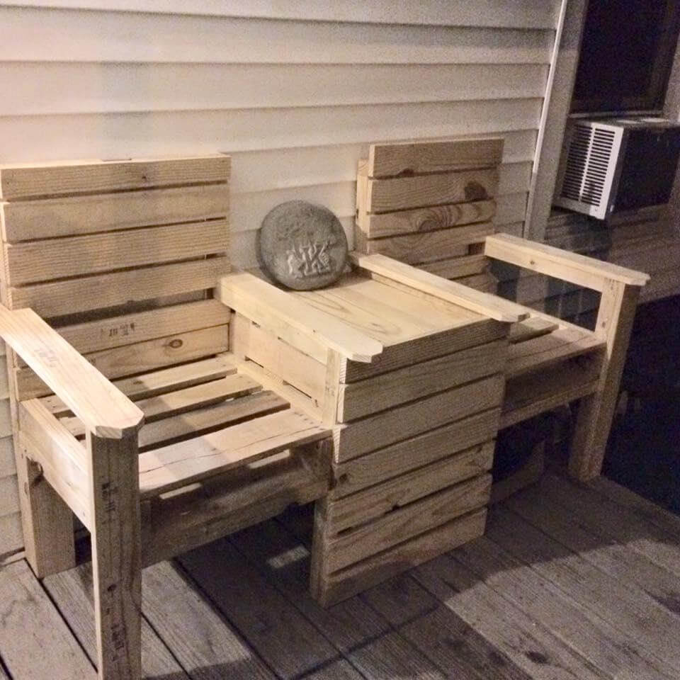 Strange Diy Bench Chairs Diy Double Chair Bench Howtospecialist How Caraccident5 Cool Chair Designs And Ideas Caraccident5Info