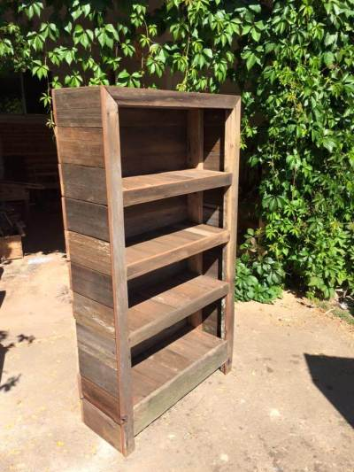 Pallet Projects Pallets Wood DIY Ideas Bookcase Shelving Rustic Ideas Furniture