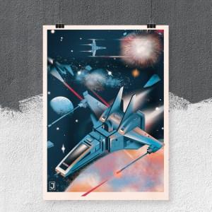 Galactic Warfare Print