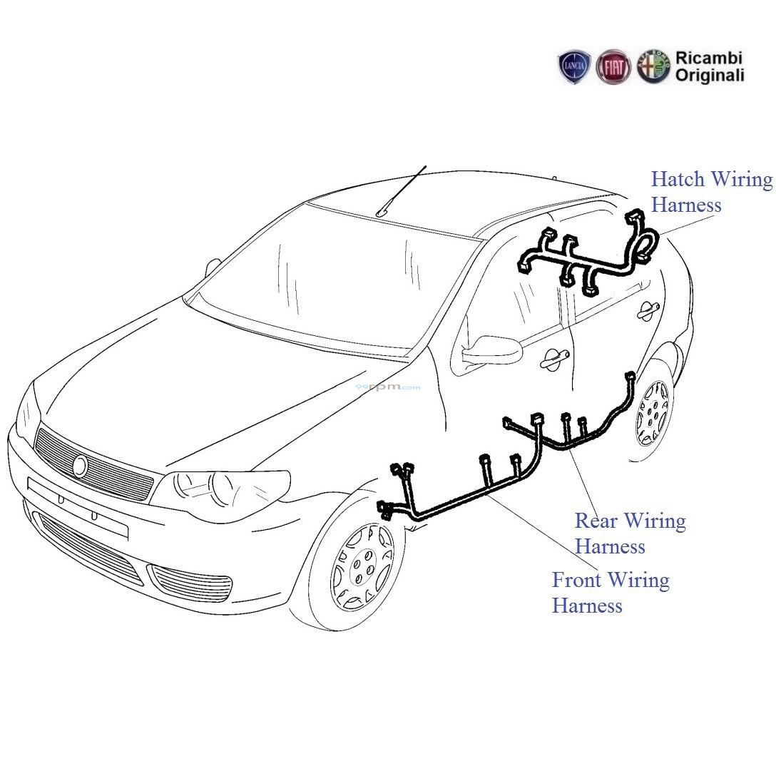 Fiat Palio 1 2 Petrol Door Wiring Harness