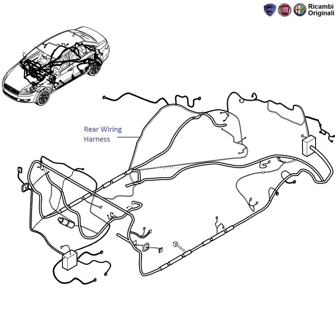 Fiat Linea Rear Wiring Harness