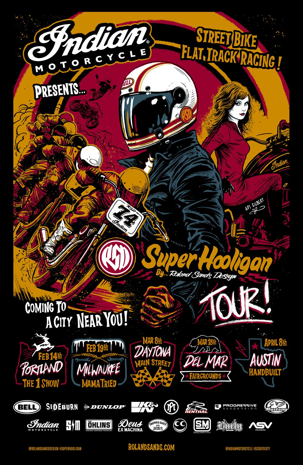 RSD / Indian Super Hooligan Tour Poster