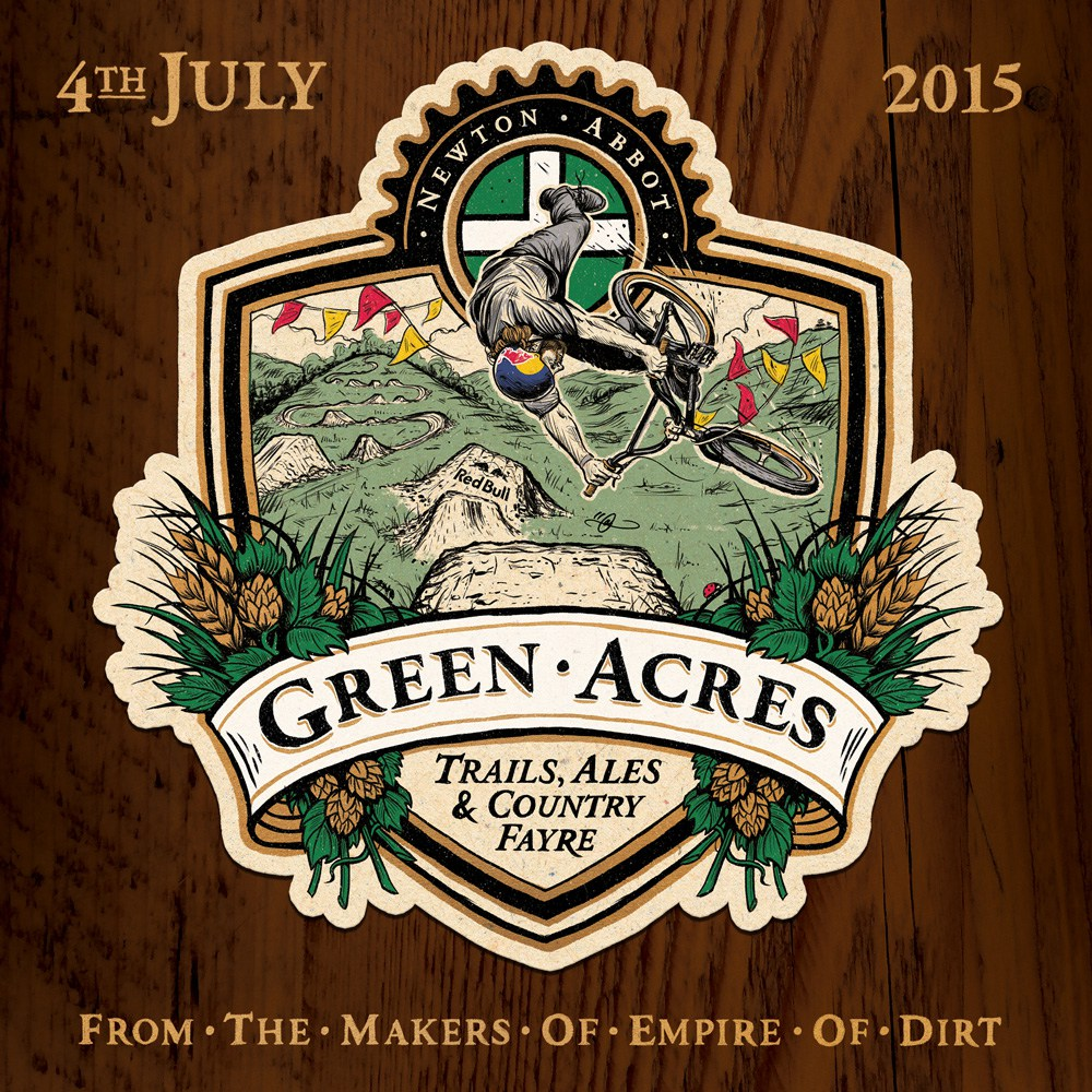 Green Acres Beer Mat. By Adi Gilbert