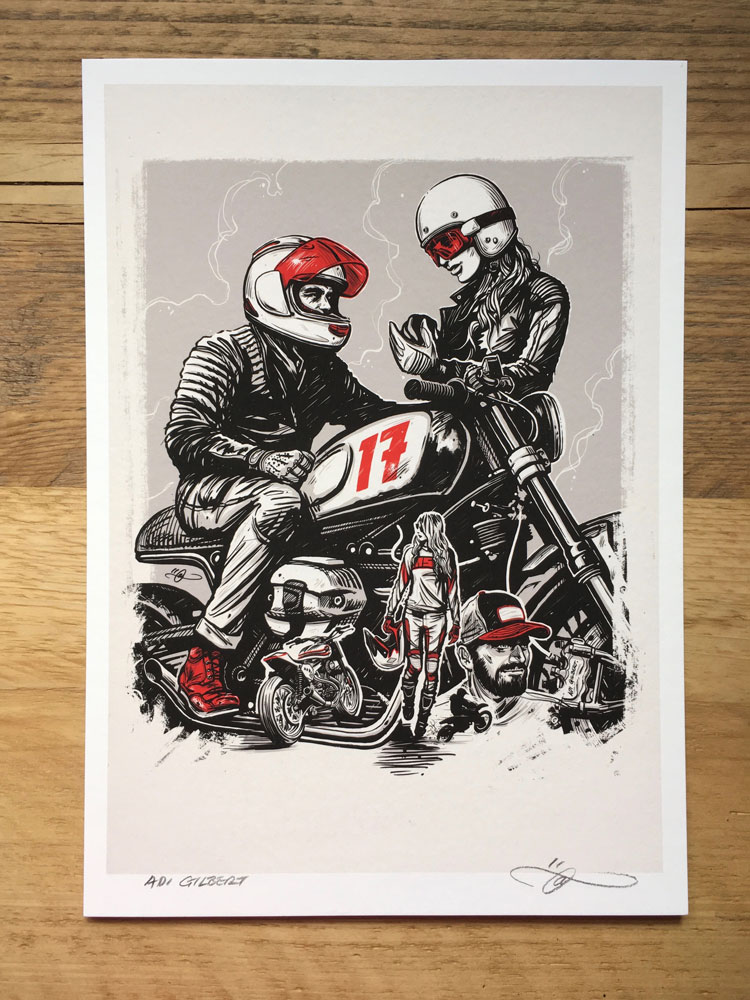 Helmet And Apparel Print