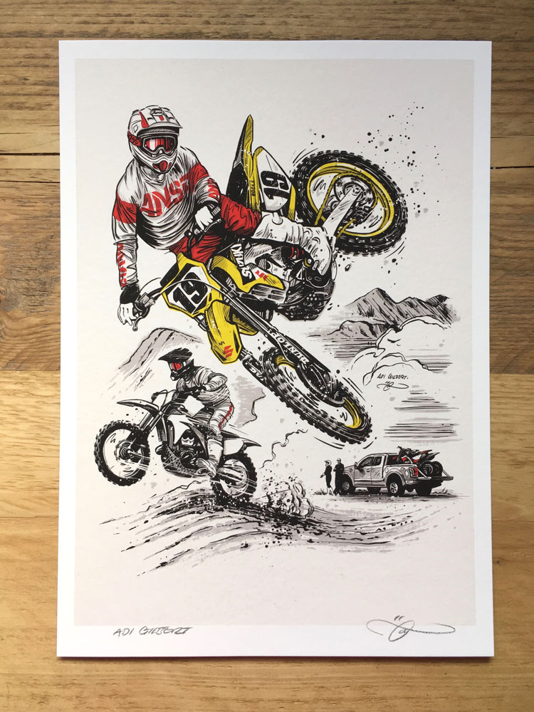 Offroad / MX print by Adi Gilbert