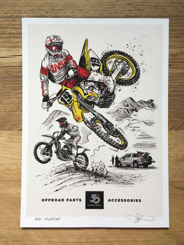 Offroad / MX print (With 50yr Logo)