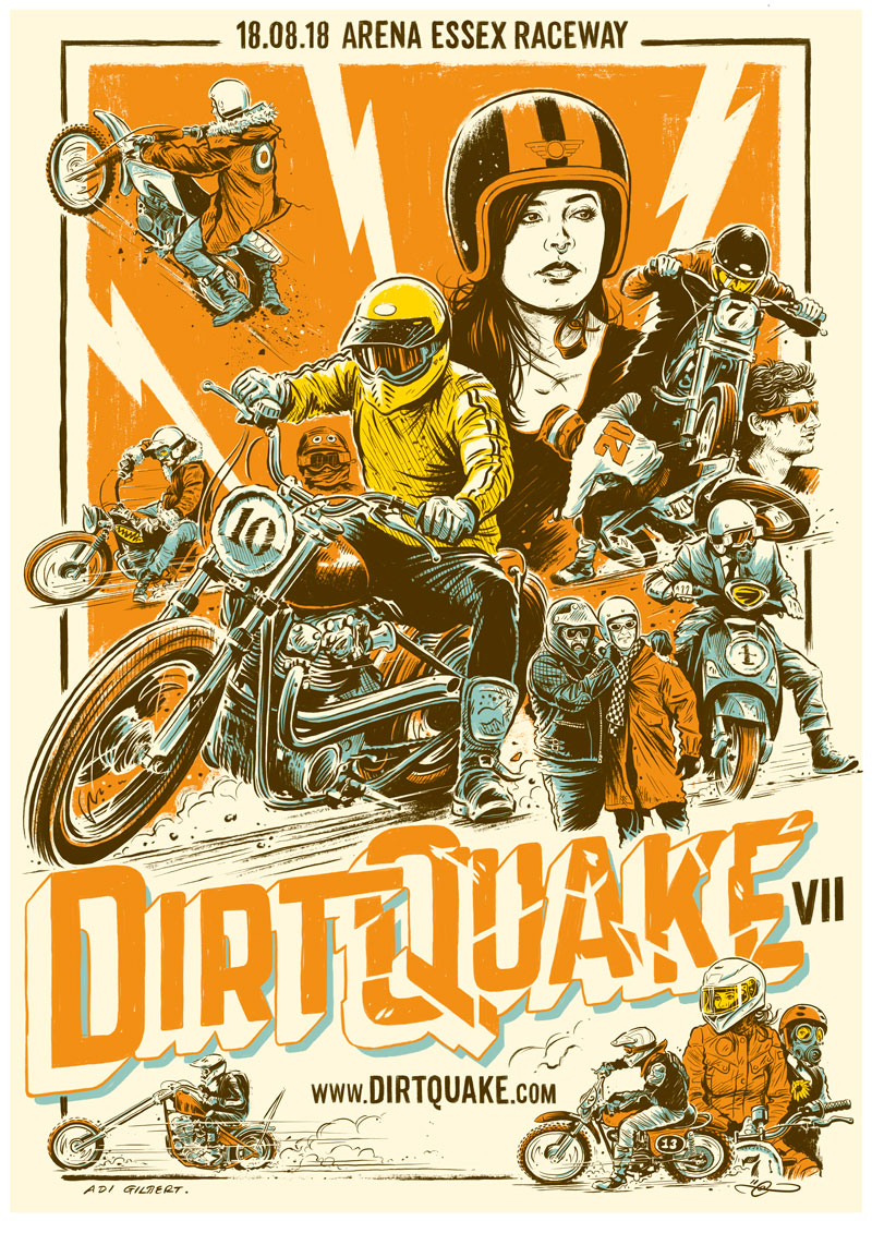 DirtQuake VII Poster By Adi Gilbert
