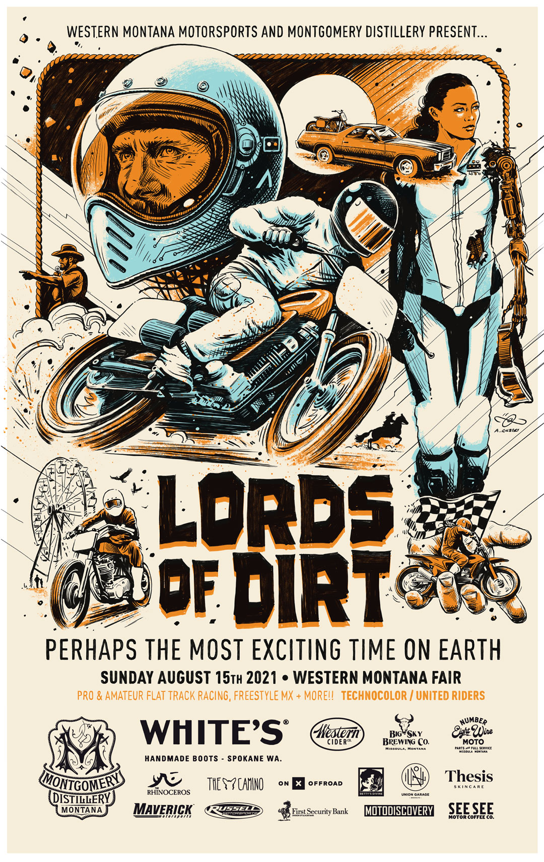 Lords Of Dirt Flat Track Race Poster 2021