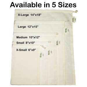 simple ecology cotton produce bags