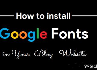 install google font on website