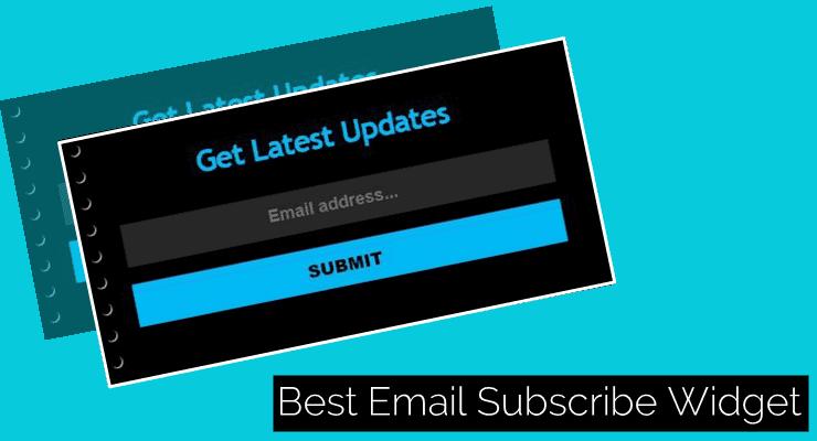 Stylish Email Subscribe widget Blogger Blog Ke Liye.