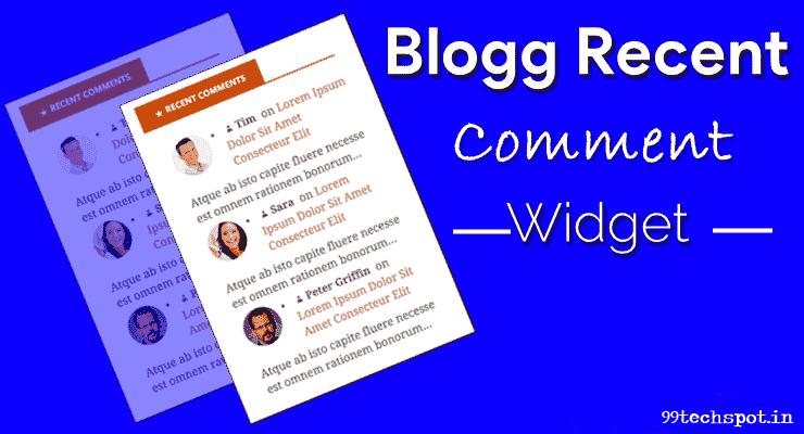 blogger recent post widget