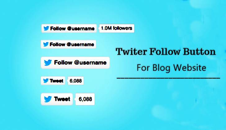 How to Add Twitter Follow Button For Website