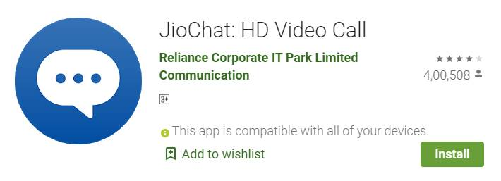 jio chat video call