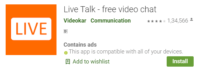 LIve talk free video chat app