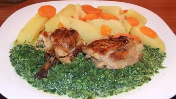 Dijetalna piletina sa špinatom - gotovo jelo