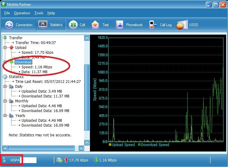 Huawei E1752 - Download Test