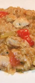 Pileci rizoto s patlidzanom - gotovo jelo