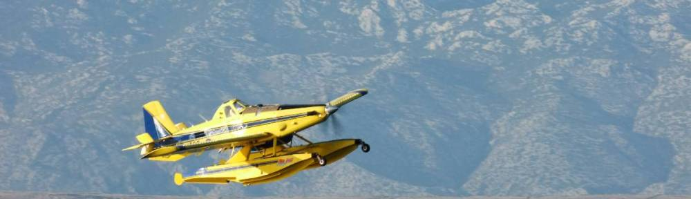 Fire on Island of Vir - Pozar na Viru - 20.07.2012. 19h - AirTractor in action