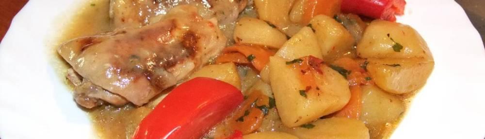 Pileci karabatak u povrcu s preljevom od gljiva - gotovo jelo 2