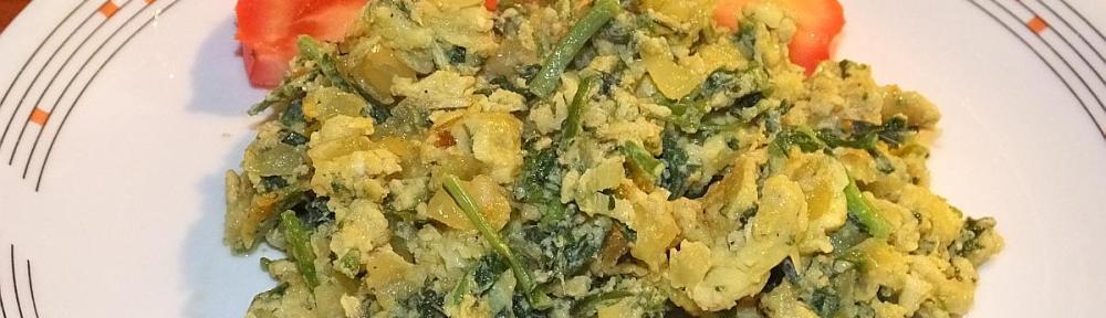 Fritaja od sparoga i luka - gotovo jelo