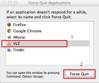 force quit סגירת תוכנית
