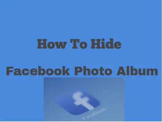 how to hide Facebook photos